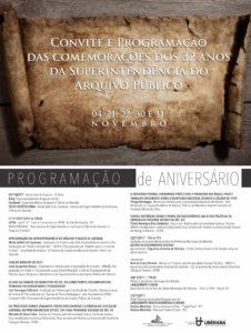 Convite 32 Anos de Anoversário do Arquivo Público de Uberaba