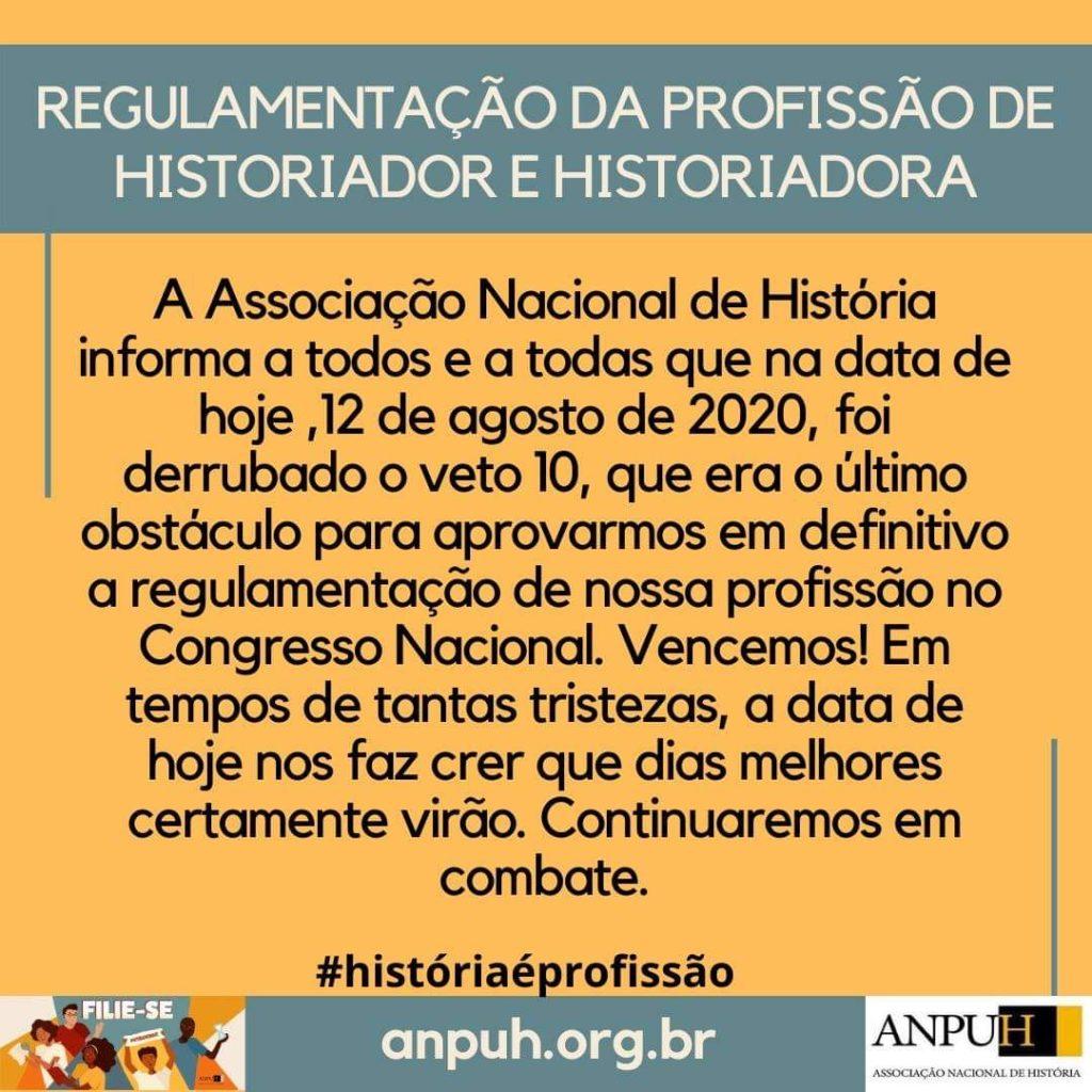 Regulamentação Historiador